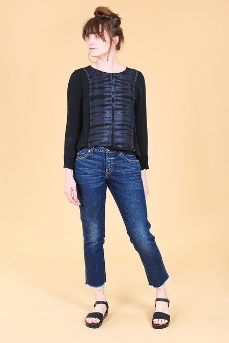 Raquel Allegra Sweatshirt in Black Tie Dye