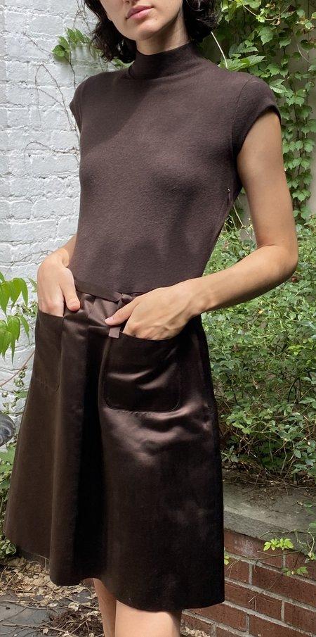 Vintage Heidi Wiesel Cashmere/Silk Dress - Brown