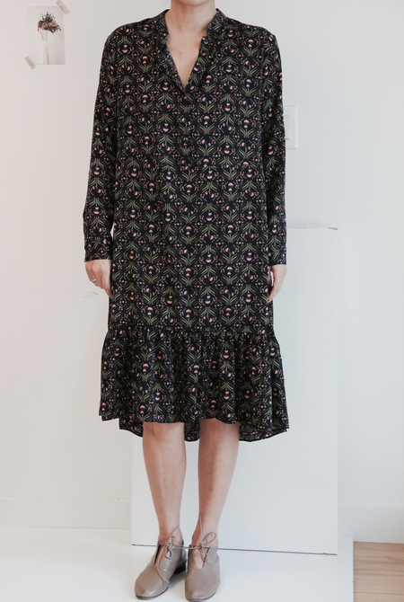 LAP Floral Printed Dress in Navy