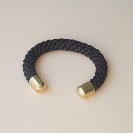 Stella Fluorescent Silk Sea Rope Cuff - Ebony