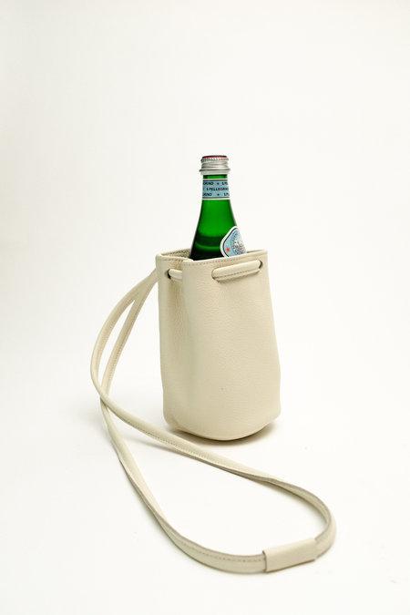 Hannah Emile Leather Crown Aqua Sling - Milk