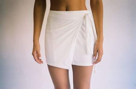 BUCI Organic Terry Skirt - White