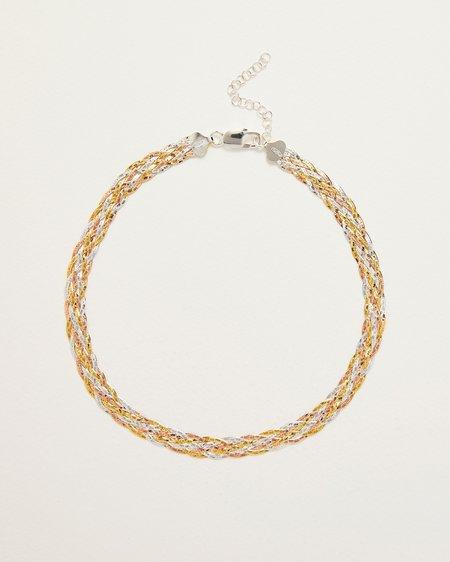 Pamela Love Braided Tricolor Herringbone Thick Chain