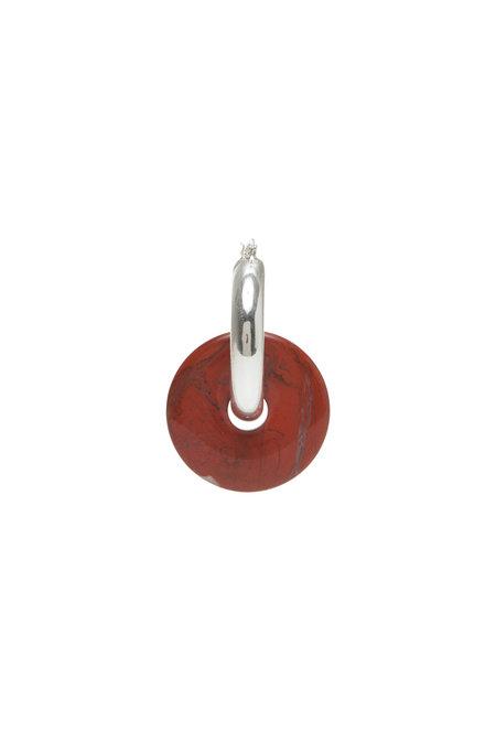 SVNR Pi Mid Hoop - Red Jasper