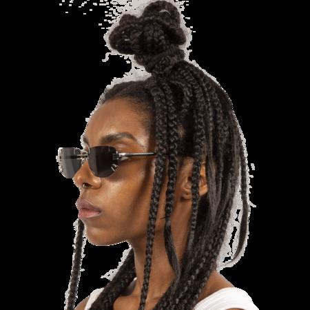 Y/project Linda Farrow Edition Sunglasses - Black/White Gold