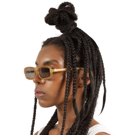Y/project Linda Farrow Edition Sunglasses - Rose Gold