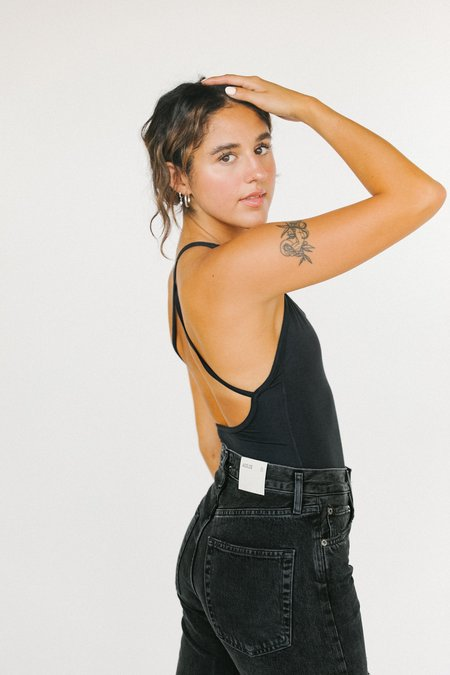 Agolde Dhalia Scoop Bodysuit - Shadow