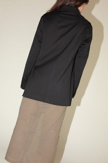 Our Legacy Unconstructed DB Blazer - Black Worsted Wool