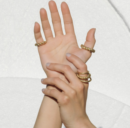Luiny Interlaced Pinky Ring
