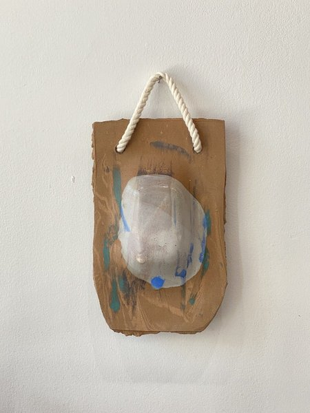 Yue Zhou Studio Ceramic Wall Hanging 6 - Brown