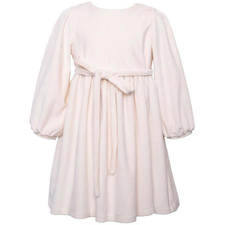Kids paade mode velvet dress - white
