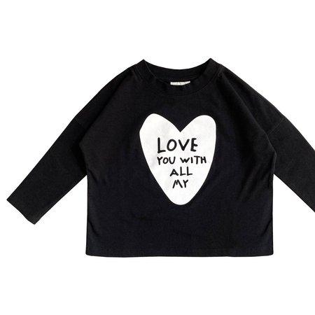 Kids LITTLE MAN HAPPY Love You Long Sleeve Shirt - Black