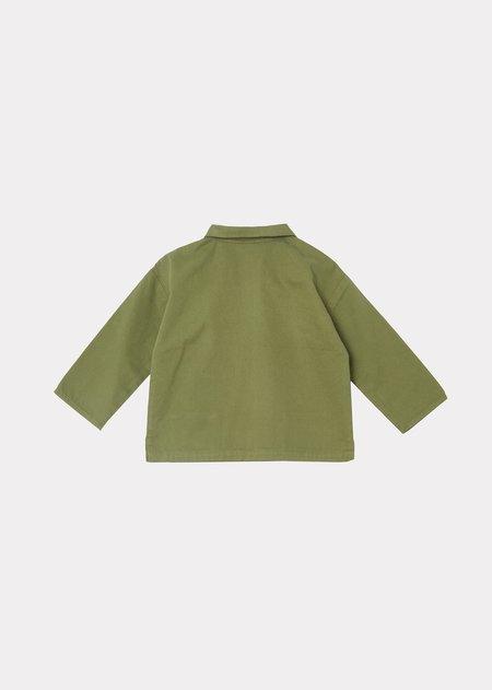 Kids Caramel Burke Baby Shirt - Military Green