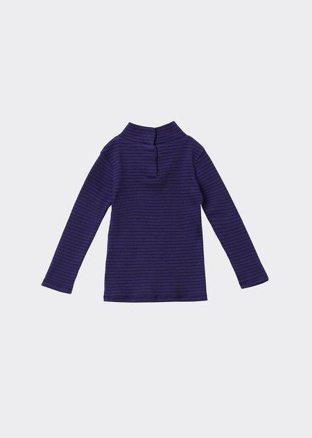 Kids Caramel Forgo Baby T-Shirt - Blue/Chocolate Stripe