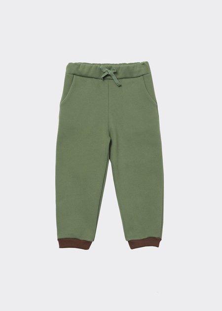 Kids Caramel Horus Trousers - Sage