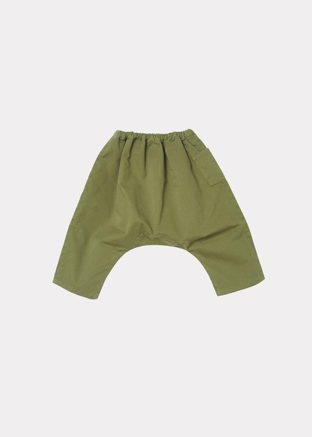 Kids Caramel Igem Baby Trousers - Military Green Twill