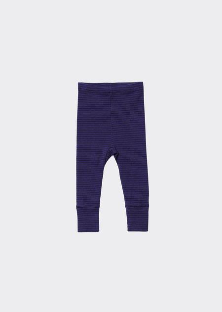 Kids Caramel Judd Legging - Blue/Chocolate Stripe