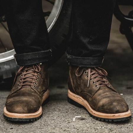 Taylor Stitch The Moto Boot - Espresso Grizzly