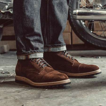 Taylor Stitch The Moto Weatherproof Snuff Suede Boot - brown