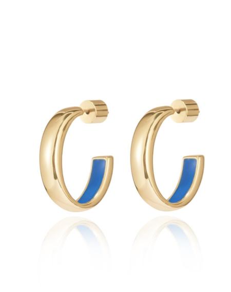 Jenny Bird mavi hoops - gold