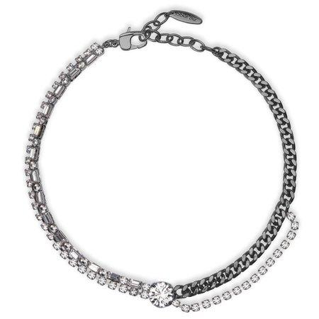 Joomi Lim Asymmetrical Crystal & Chain Choker