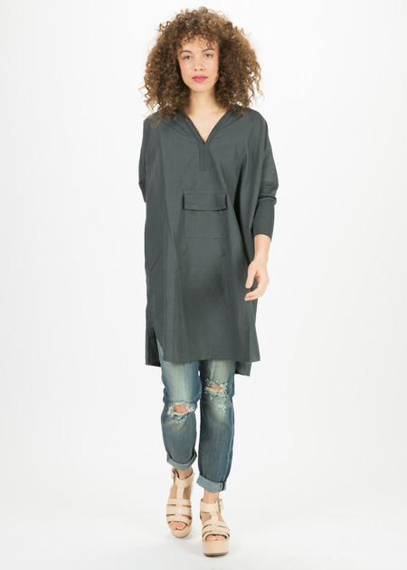Kristensen du Nord Center Pocket V-Neck Dress