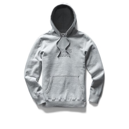 Reigning Champ Mid Weight Drop Shadow Relaxed Fit Pullover Hoodie - Heather Grey