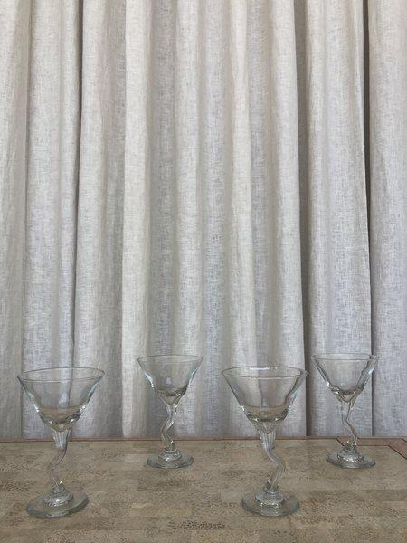 VINTAGE Z STEM MARTINI GLASSES