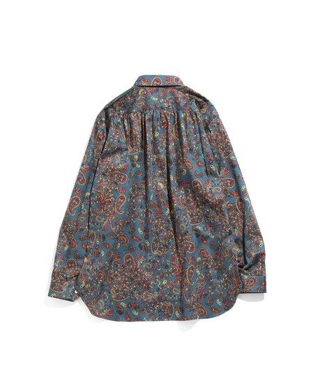 Needles Cotton Sateen Pinhole EDW Shirt - Paisley Pattern/Blue