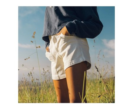 Jungmaven Washed Venice Shorts - White
