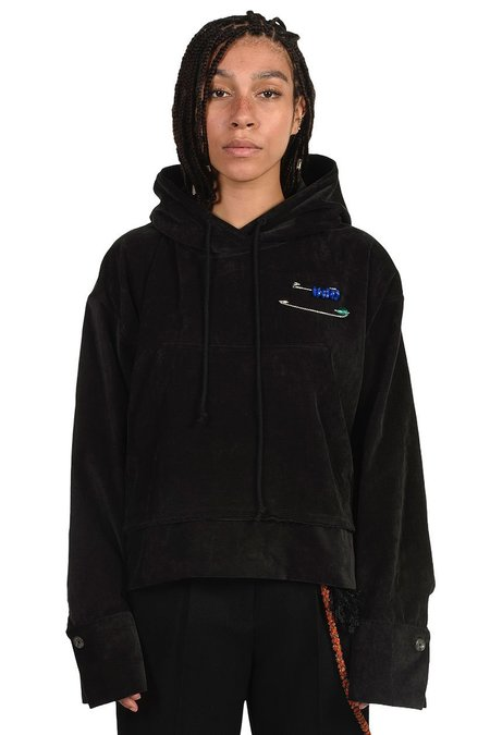 Song for the Mute Cropped Hooded Pullover