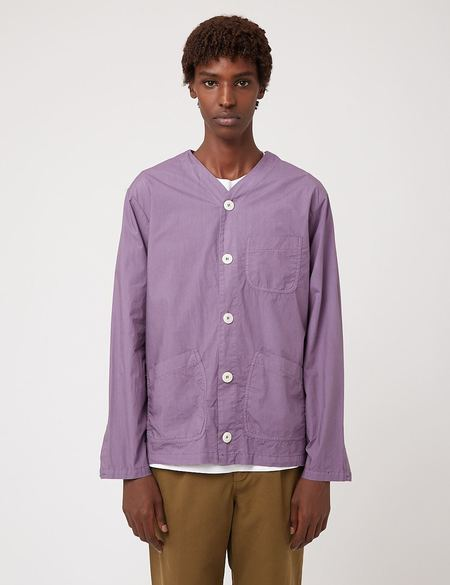 Bhode Railroad Italian Poplin Shirt - Space Purple