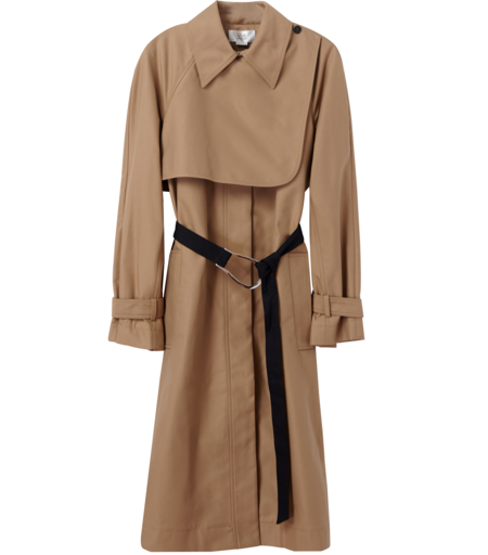 Victoria Beckham Double Faced Trench Coat - Sandstone