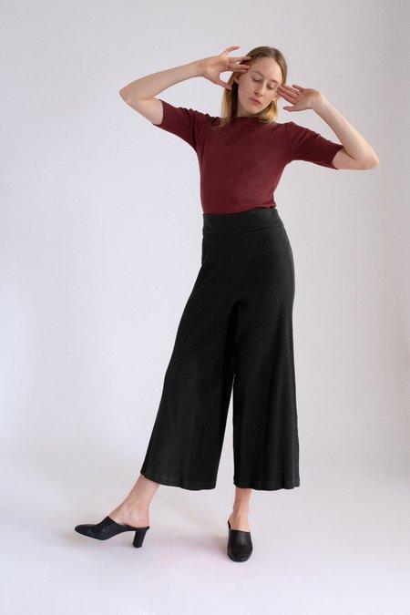 Basic Color Pants in Black by Delfina Balda
