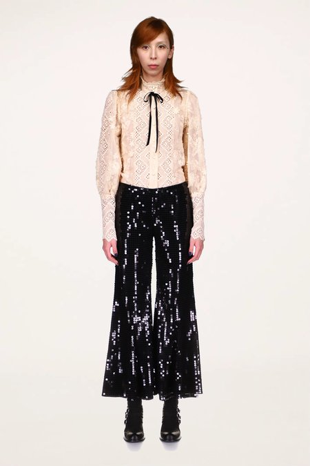 Anna Sui Rose Trellis Lace Top - IVORY