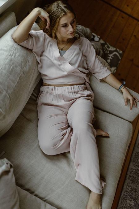 Conrado Catherine Surplice Top - Pink