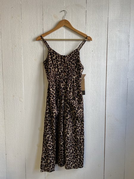 Conrado Elysha Buttonfront Dress - Animal Print