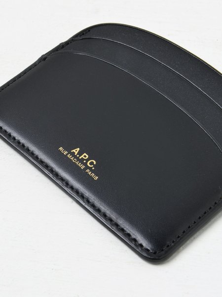 A.P.C. Porte Carte Demi Lune LZZ Bag - BLACK