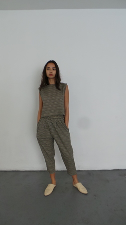 ILANA KOHN NICO PANTS - BLACK CHECKERS