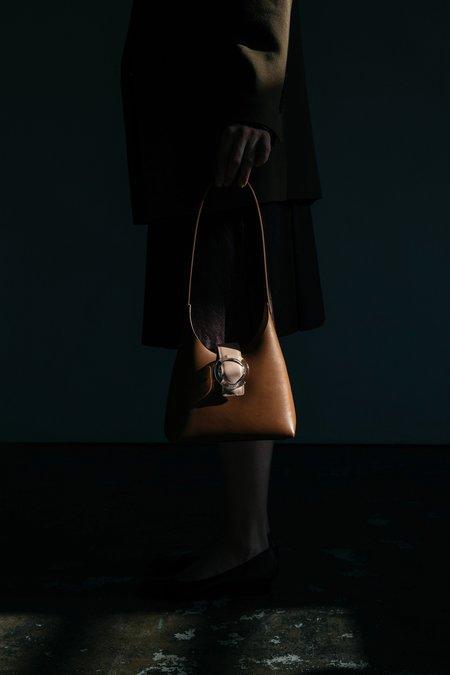 IMAGO-A Nº44 Lucite Buckle Mini Bag - Saddle/Blush