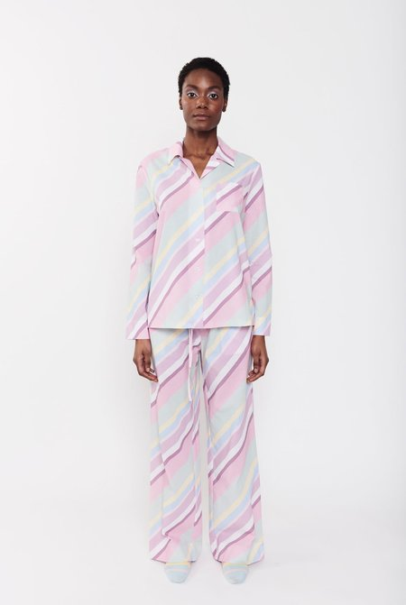 Olivia Rubin Peggy Pyjamas - Multi Pastel Stripe