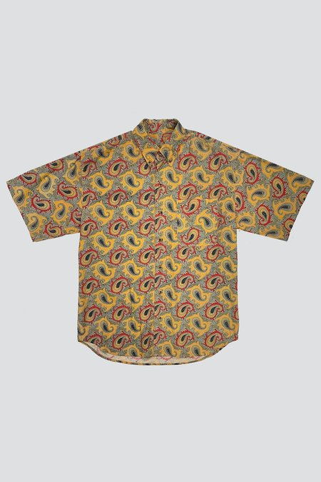 Assembly Cotton Paisley Button Down - Golden