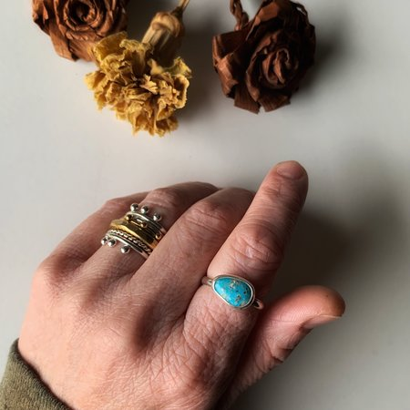 47 Suns Whitewater Stacker Ring - Turquoise