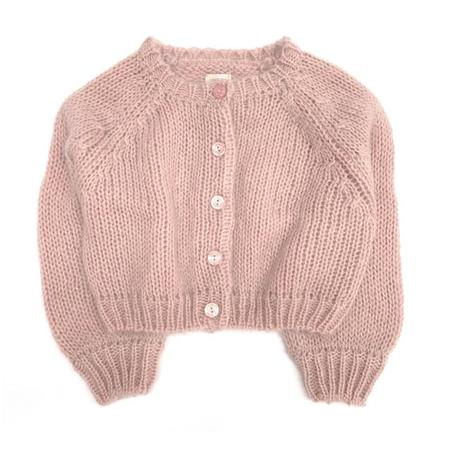 Kids long live the queen cardigan - old rose
