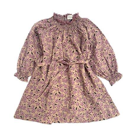 Kids long live the queen mini dress - grape flower