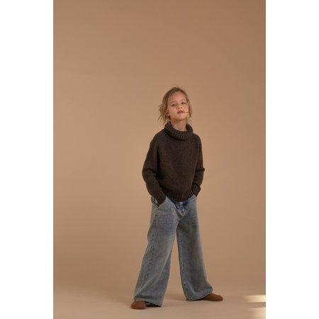 Kids Long Live The Queen Wide Leg Jeans - Faded Denim