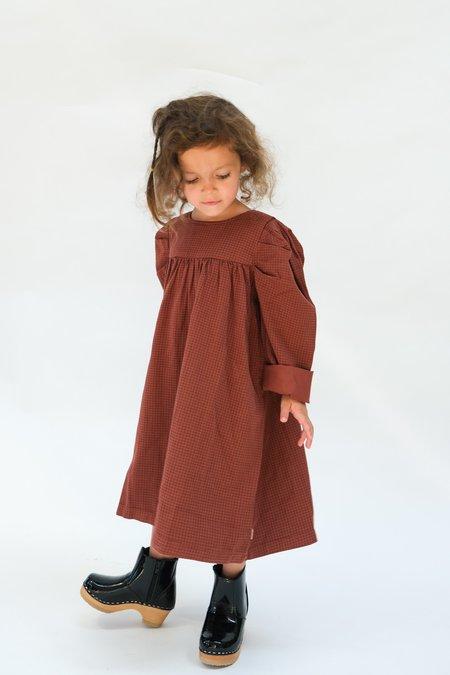 Kids My Little Cozmo Organic Gabardine Dress - Garnet