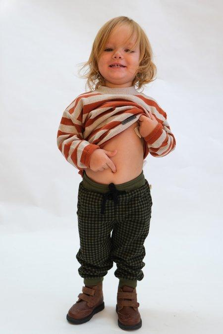 kids My Little Cozmo Organic Plaid Pants - Pine