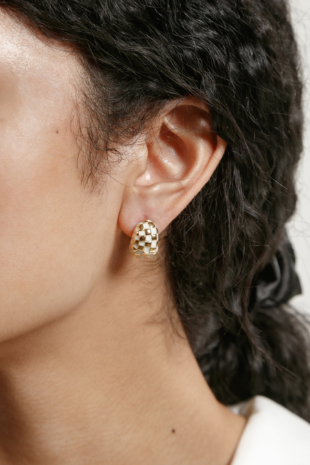 Wolf Circus Nellie Earrings - Cream/Gold