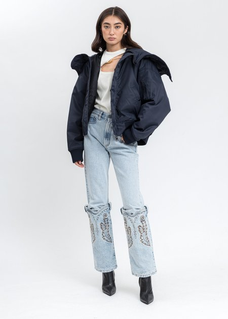 Y/project  Cowboy Cuff Jeans - Ice Blue